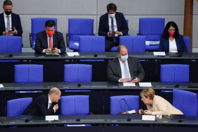 Sessão no Parlamento da Alemanha