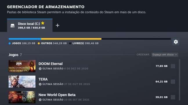Steam agora permite deletar ou mover vários jogos de uma vez só