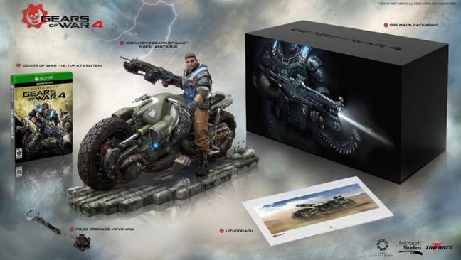 Um grande pacote na edição de colecionador de Gears of War 4