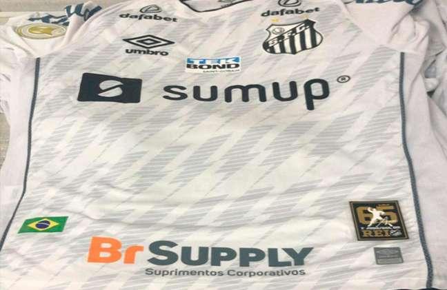 Camisa do Santos contra o Bahia terá homenagem ao Rei Pelé (Foto: Reprodução/Santos)