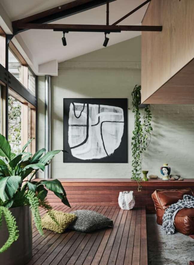 43. Varanda com decoração sage green e plantas – Foto Dulux Paint