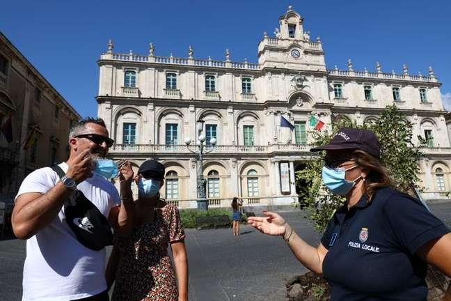 Catânia, na Itália, em meio à pandemia de Covid-19 30/08/2021 REUTERS/Antonio Parrinello