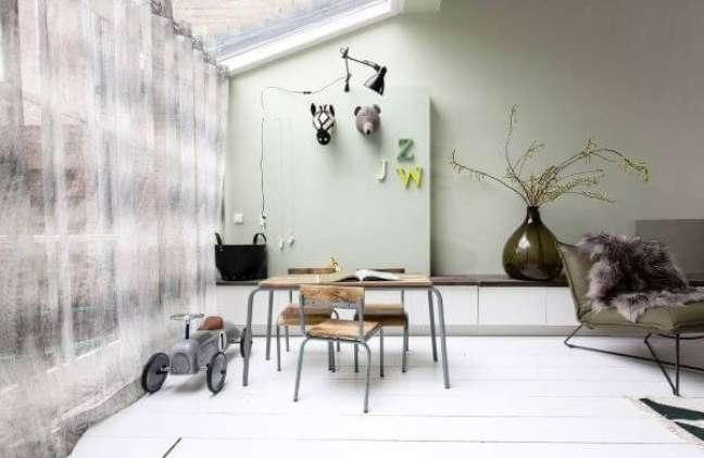 42. Tinta de parede verde sage – Foto Archzine