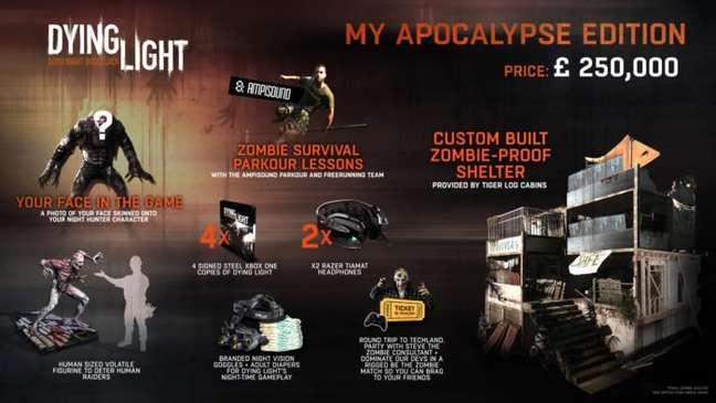 Dying Light: My Apocalypse Edition traz muito no quesito edições de colecionador