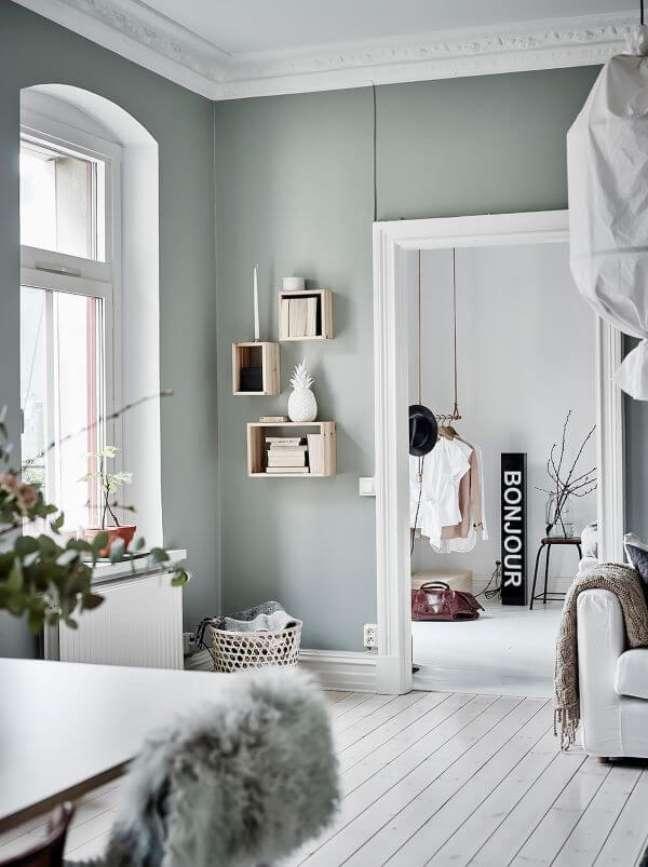 48. Casa com paredes verde sage – Foto Elle Decoration