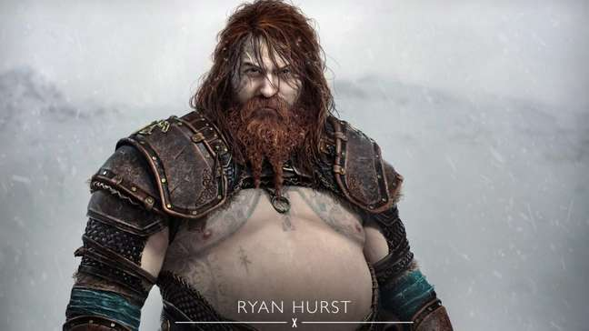 Thor de God of War Ragnarok