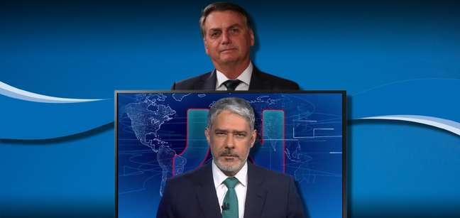Bolsonaro reclamou da cobertura dos atos de 7 de setembro no 'Jornal Nacional', comandado por Bonner