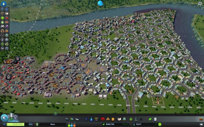 Game de gerenciamento permite jogador monte sua cidade da maneira que quiser, utilizando várias ferramentas detalhadas de construção e manutenção da cidade.