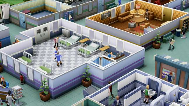 Jogador pode organizar um hospital e seu completo funcionamento.