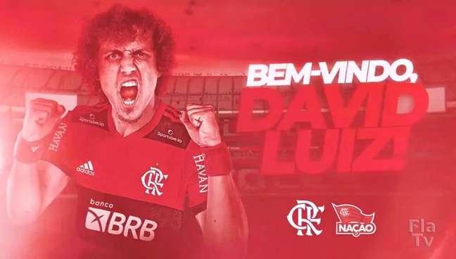 David Luiz é jogador do Flamengo (Foto: Reprodução/Flamengo)