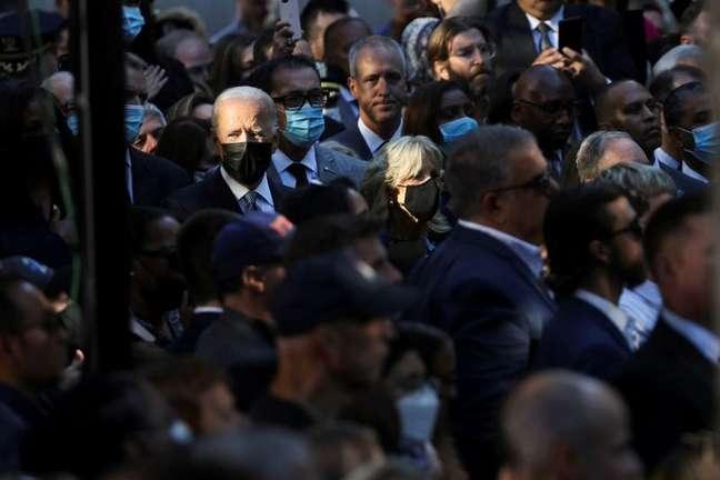 Presidente dos EUA, Joe Biden,  participa de cerimônia que marca o 20º aniversário dos ataques de 11 de setembro de 2001 na cidade de Nova York, Nova York, EUA, 11/09/2021. REUTERS / Jonathan Ernst