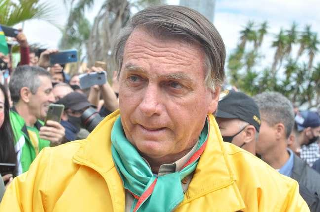 Jair Bolsonaro participa de evento no Rio Grande do Sul