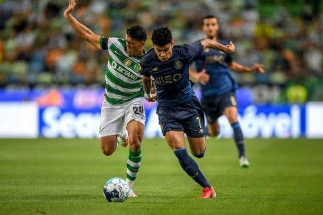 Sporting e Porto empataram em 1 a 1 (Foto: PATRICIA DE MELO MOREIRA / AFP)
