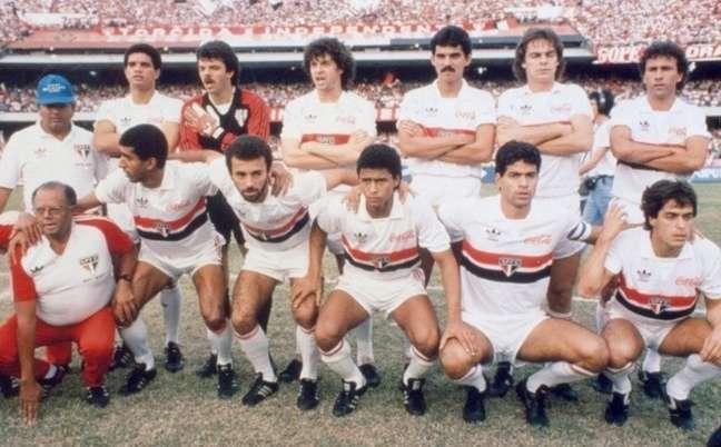 Time campeão paulista de 1989 com Ricardo Rocha (Foto: Arquivo Histórico do São Paulo FC )