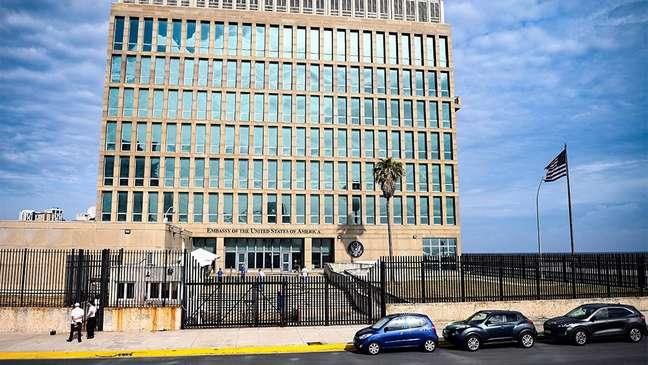 Embaixada americana em Havana, em registro fotográfico de maio de 2021