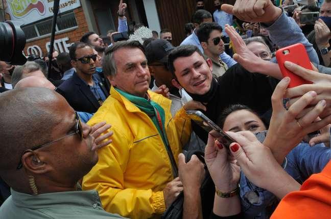 O presidente da República, Jair Bolsonaro, participa da 44° Expointer que ocontece no Parque de Exposições Assis Brasil, Esteio/RS