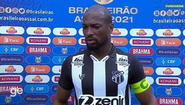 Luiz Otávio elogiou o técnico Tiago Nunes (Reprodução: Premiere)