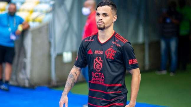 Michael marcou dois dos três gols da vitória do Rubro-Negro (Foto: Marcelo Cortes/Flamengo)