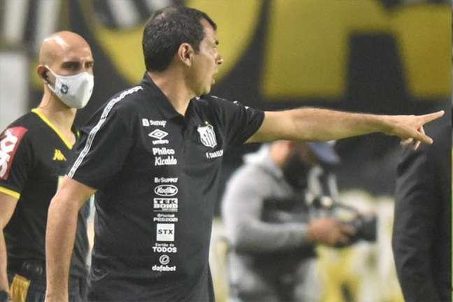 O técnico Fábio Carille elogiou o atacante Marinho (Foto: Ivan Storti/Santos FC)
