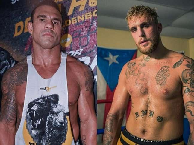Belfort quer enfrentar o youtuber Jake Paul em luta de Boxe (Foto: Reprodução Instagram)