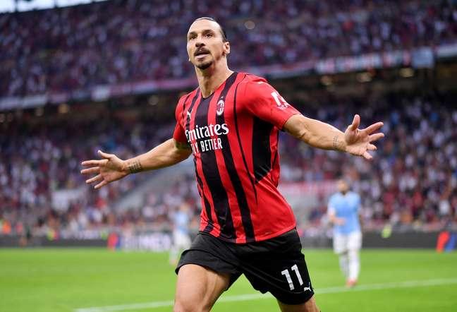 Ibrahimovic marcou pelo Milan no Campeonato Italiano