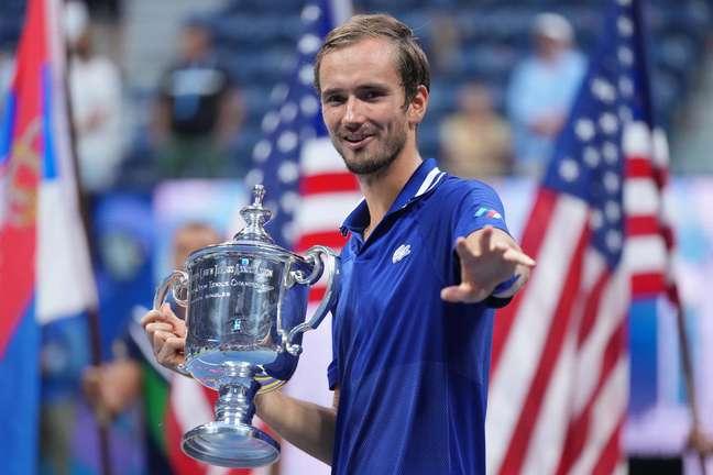 Daniil Medvedev venceu o US Open neste domingo, 12