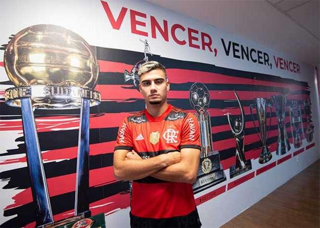 Andreas Pereira será titular do Flamengo para a partida desta tarde (Foto: Alexandre Vidal / Flamengo)