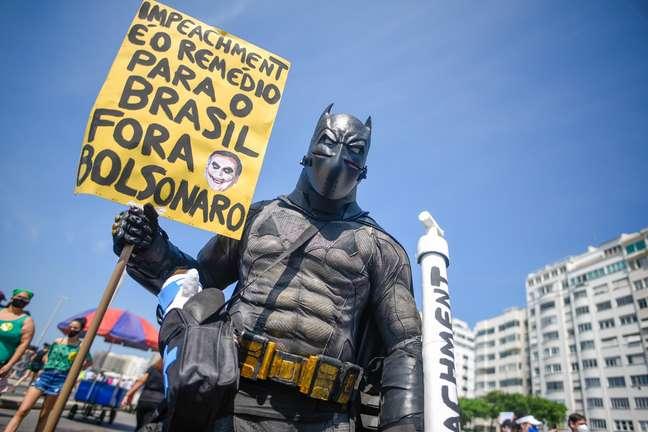 Manifestantes realizaram na manhã de hoje, 12/09, protestos contra o governo do presidente Jair Bolsonaro