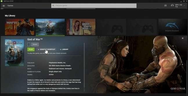 God of War no catálogo do GeForce Now