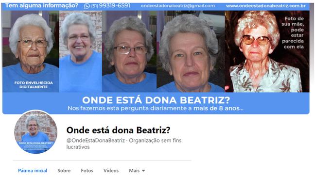 Filho criou página no Facebook para divulgar desaparecimento da mãe e buscar possíveis informações sobre o caso