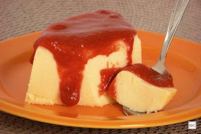 Guia da Cozinha - Pudim de queijo com goiabada