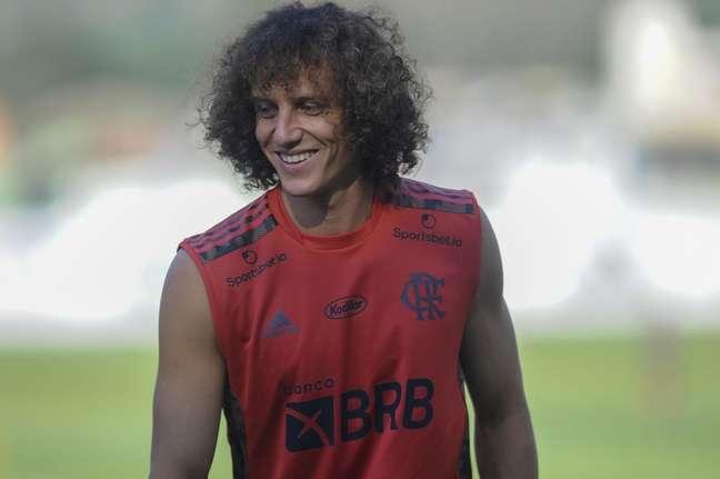 David Luiz treinou no Ninho do Urubu (Foto: Foto: Marcelo Cortes/Flamengo)