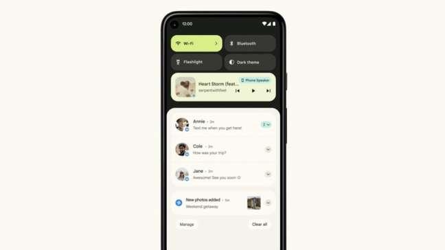 Notificações no Android 12