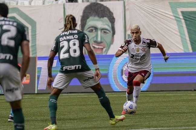 Andreas Pereira iniciou a partida diante do Palmeiras como titular (Foto: Marcelo Cortes / Flamengo)