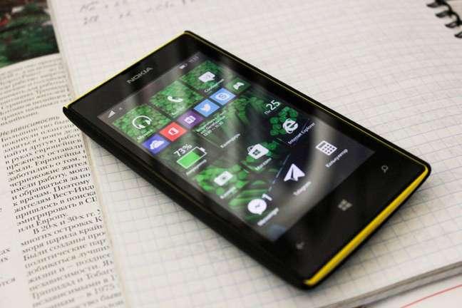 Windows Phone 8.1 rodando no Lumia 520