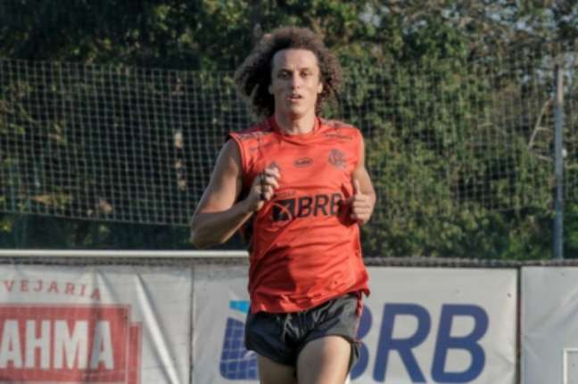 David Luiz já treina pelo Flamengo (Foto: Marcelo Cortes/Flamengo)