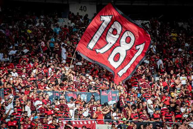 A torcida do Flamengo deve estar presente diante do Grêmio, na Copa do Brasil (Foto: Paula Reis / Flamengo)