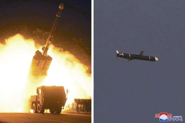 Coreia do Norte teste míssil de cruzeiro 13/09/2021 KCNA via REUTERS