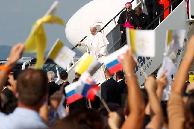 Papa Francisco visita Bratislava 12/09/2021 REUTERS/Remo Casilli