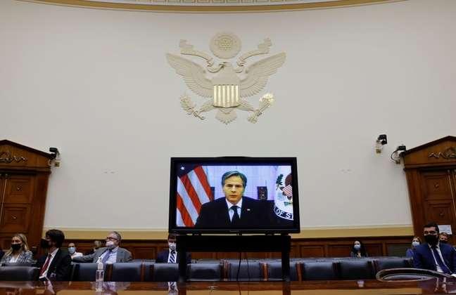 Secretário de Estado dos EUA defende saída do Afeganistão em audiência no Congresso 13/09/2021 REUTERS/Jonathan Ernst