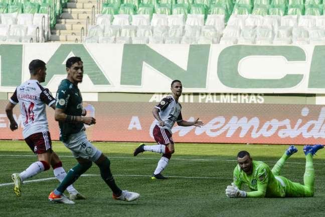 O Palmeiras foi derrotado pelo Flamengo no Allianz Parque (Foto: Marcelo Cortes/Flamengo)