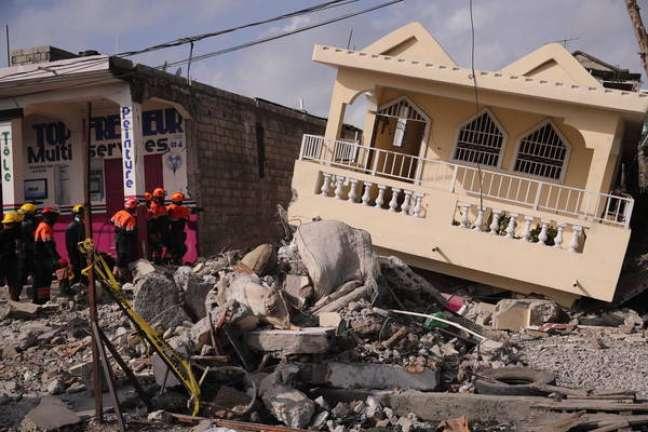Haiti foi afetado por um forte terremoto em 14 de agosto