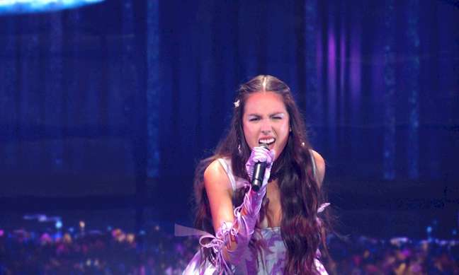 A estrela pop Olivia Rodrigo   Cortesia da MTV