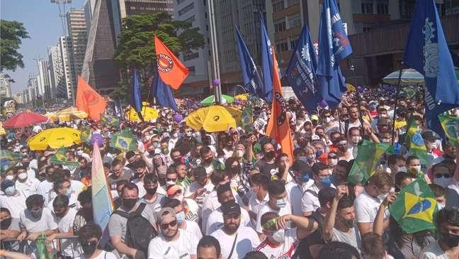 Protesto reuniu 6 mil pessoas, segundo a PM