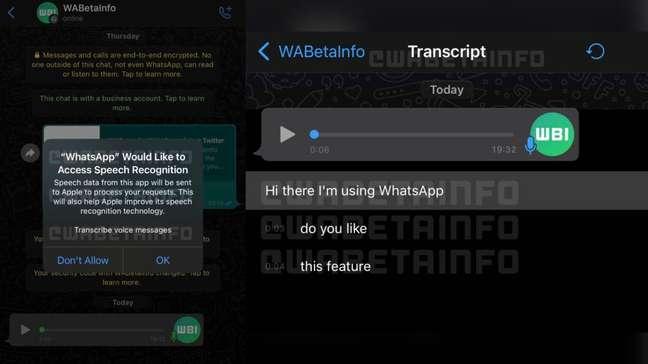 WhatsApp trabalha em ferramenta nativa para transcrição de áudios