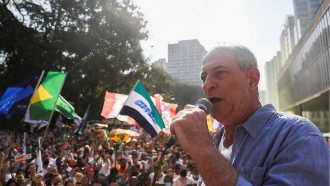 Antigo crítico do MBL, Ciro Gomes discursou no ato deste domingo da Avenida Paulista