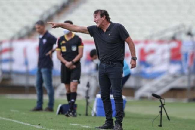 O treinador alvinegro adotou um discurso cauteloso sobre a conquista do título nacional-(Pedro Souza/Atlético-MG)