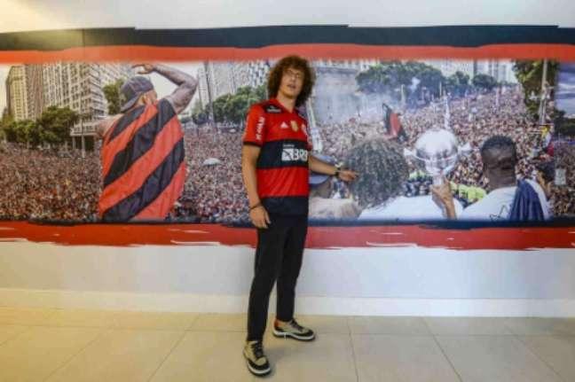 David Luiz é o novo reforço do Flamengo (Foto: Marcelo Cortes/Flamengo)