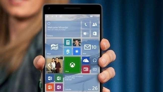 Interface do Windows 10 Mobile
