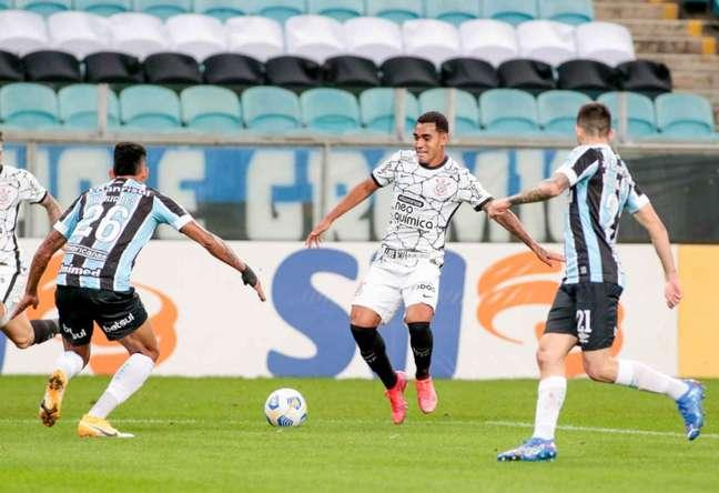 Du Queiroz tem pouco mais de 180 minutos como profissional (Foto: Rodrigo Coca/Ag.Corinthians)